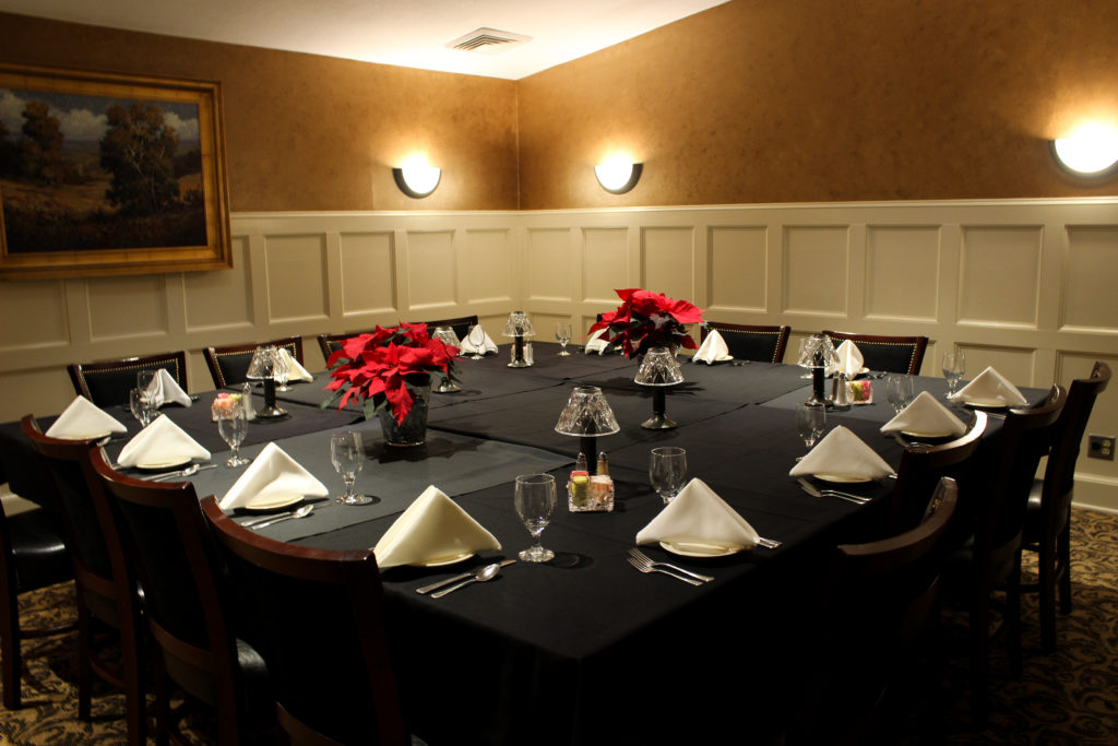 SCC Private Dining Room for a holiday party