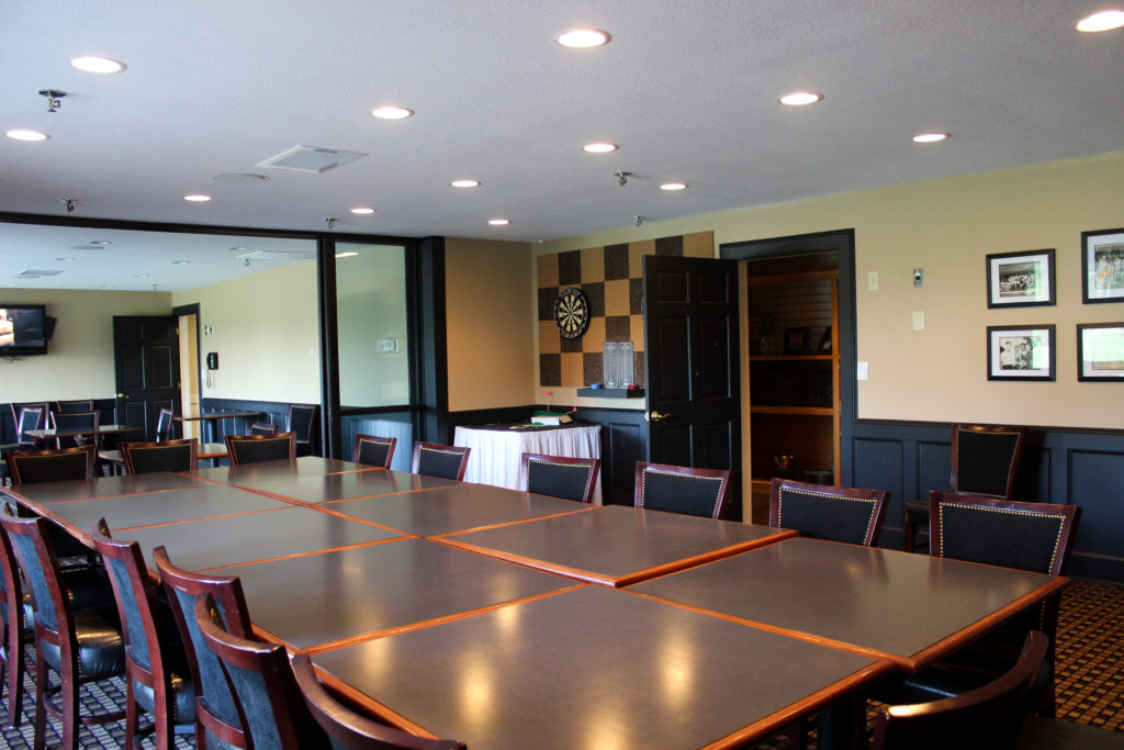 SCC Card Room set up for a meeting