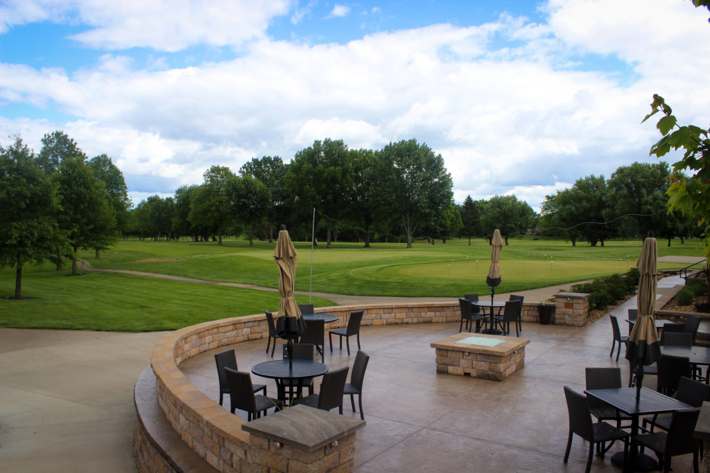 SCC patio overlooking hole 9