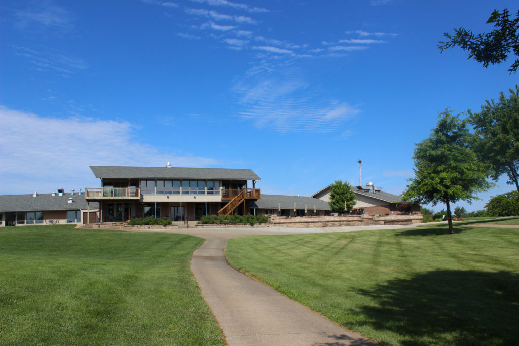 View of the Club House from the Course