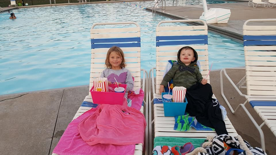 Kids at July 2018 Dive-In Movie